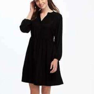 Black Henley shirt dress